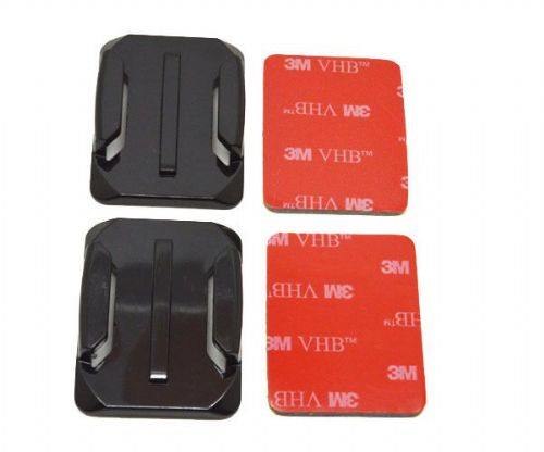 Curved  Surface  Adhesive Mounts GoPro Compatible x2